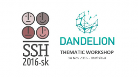 DANDELION Thematic Workshop at the SSH2016 Conference